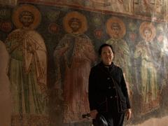 Ann with the frescoes of Panagia Kera