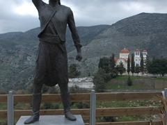 Rebellious statue near Anogia; Mount Psiloritis