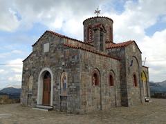 Stone church in a mountain village