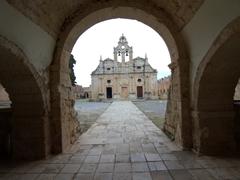 Entrance to Arkadi Monastery
