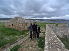 Admiring the vistas from Rethymno Fortress