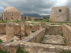 Today, only a mosque and church remain standing within Rethymno's Fortress walls