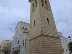 Due to the police strike, we were able to park right next to this Greek Orthodox Cathedral in the center of Rethymno