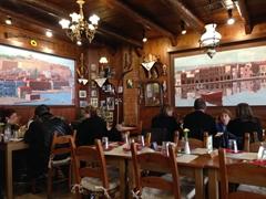 View of Greek taverna, Ta Agrimia, in Rethymno