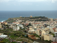 Our parting view of Rethymno