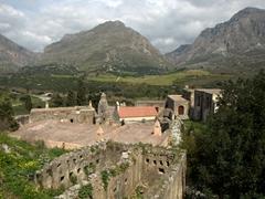 The ruined monastery of Kato Preveli