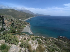 View of the magnificent Preveli Beach (Palm Beach)