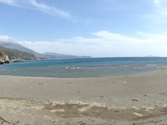 We had the entire Preveli Beach to ourselves