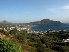 Plakias, a village on the south coast of Crete