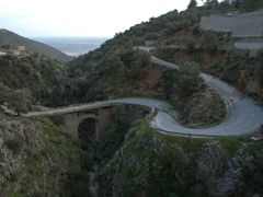 Winding roads on our drive from Preveli to Frangokastello