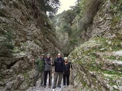 Striking a pose at Imbros Gorge