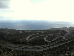 Check out the hairpin turns on the road linking Komitades to Imbros