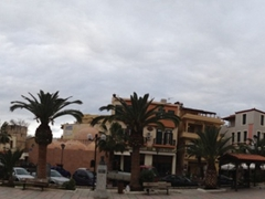 Panoramic view of Mitropoleos Square; Chania