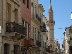 A peek down one of Chania's side streets