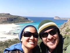 Balos beach selfie