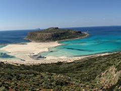 Panorama of Balos Beach...check out that lovely turquoise hue!