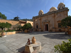 Courtyard view of Agia Triada