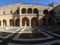 Interior courtyard view; Palace of the Grand Masters
