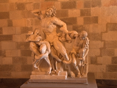 The statue of Laocoön and His Sons on display at the Palace of the Grand Master of the Knights of Rhodes