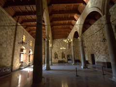 Interior view of the Palace of the Grand Masters