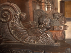 Carved wooden detail; Palace of the Grand Masters