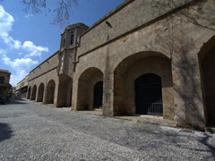 Exterior of the old Hospital of the Knights, one of Old Rhodes' largest medieval buildings