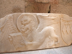 Lion of Saint Mark (coat of arms of the Crispi Family); Rhodes' Archeological Museum