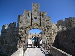 Standing beneath St Paul's Gate