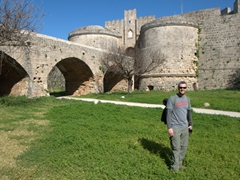 Robby standing beneath D'Amboise's Gate