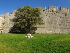 Panoramic view of the walled city of Rhodes