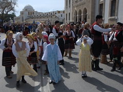Its a feast for the eyes with locals dressed in their traditional best to celebrate Greek Independence Day