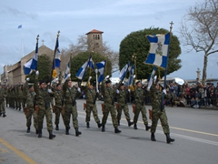 Rhodes soldiers marching smartly