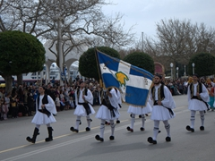 We were mesmerized by the constant flow of men dressed in traditional Greek outfits during the Independence Day parade