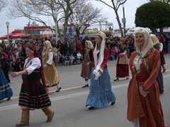 We loved the colorful variety of traditional outfits donned to celebrate Greek Independence Day!