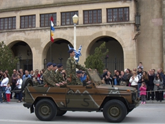 Closing ceremony of the hour long parade