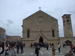 The crowd disperses at the culmination of the parade, which ended near Evangelismos Church