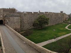 Panoramic view of Rhodes as seen from the outer city walls