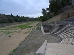 3rd century Hellenistic stadium built on Monte Smith; Rhodes
