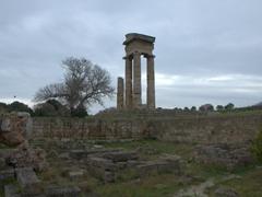 The remaining columns of the Temple of Pythian Apollo; Rhodes acropolis