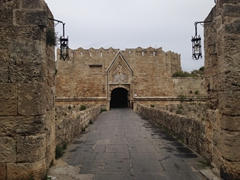 Outer St John's gate with Grand Master d'Aubusson's coat of arms over the portal