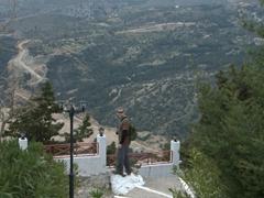 Robby admiring the vistas from Panagia Tsambika Monastery