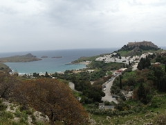 Panoramic view of pretty Lindos
