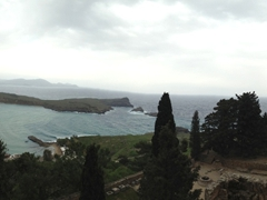 Panoramic view from Lindos Castle