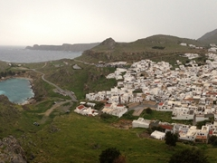 St Paul's Bay as seen from Lindos acropolis