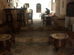 Interior view of Captain's House Bar; Lindos