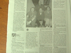 The Clark Family makes the local paper in Rhodes!