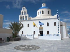 The Church of Panagia in the main square of Oia