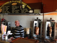 The place for cheap & tasty gyros in Oia