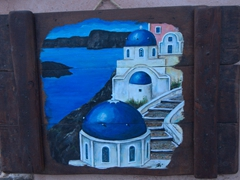 Souvenir for sale; Oia