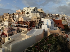 One of our favorite panoramic photos of Oia (as seen from the lookout point for sunset)